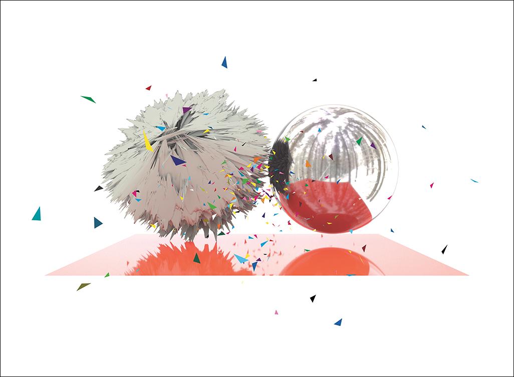 """Épinettes, sérigraphie, 56 x 76 cm (22"""" x 30""""), édition de 12, 2017"""