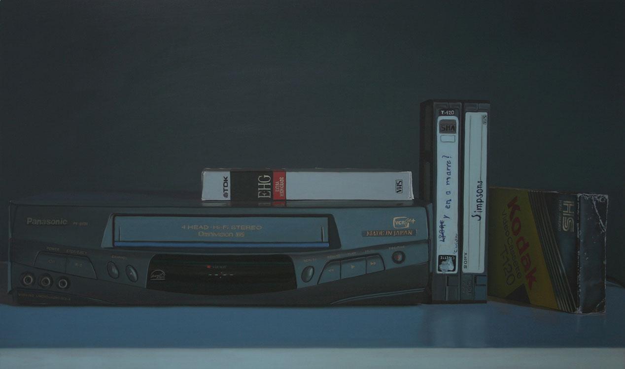 """VHS Blues (Panasonic), huile sur toile, 100 x 168 cm (39"""" x 66""""), 2011"""