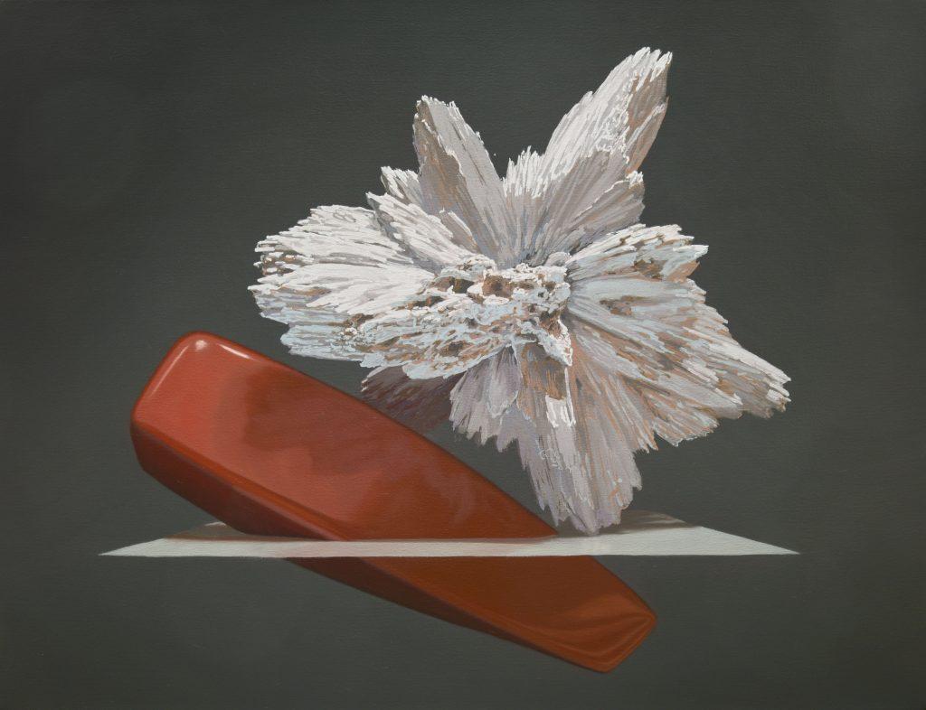 """Motif de synthèse 04, huile sur toile, 58 x 76 cm (23""""x30""""), 2018"""