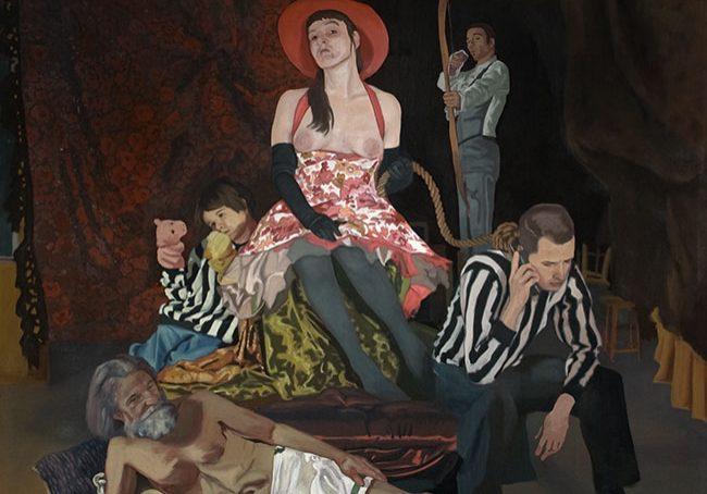 """L'Allégorie du bonheur, huile sur toile, 163 x 188 cm (64"""" x 74""""), 2009"""