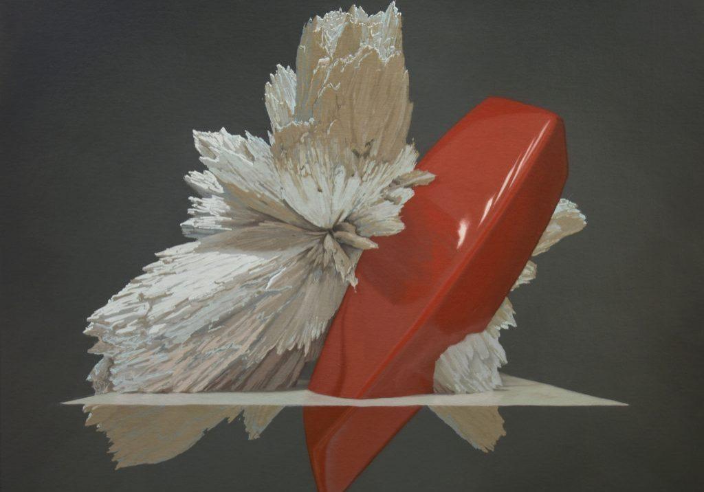 """Motif de synthèse 02, huile sur panneau marouflé, 61 x 76 cm (24""""x30""""), 2018"""