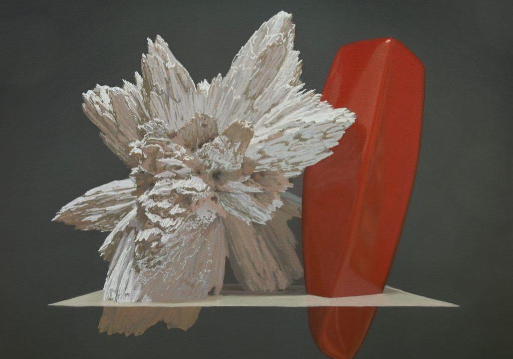 """Motif de synthèse 03, huile sur toile, 58 x 76 cm (23""""x30""""), 2018"""