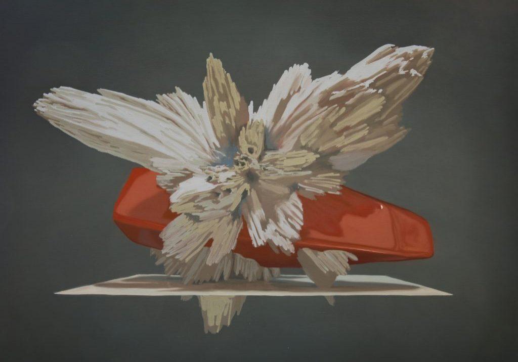 """Motif de synthèse 05, huile sur toile, 61 x 84 cm (24""""x33""""), 2018"""