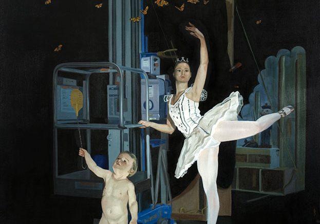 """Transcender, huile sur toile, 147,5 x 178 cm (58"""" x 78""""), 2009"""