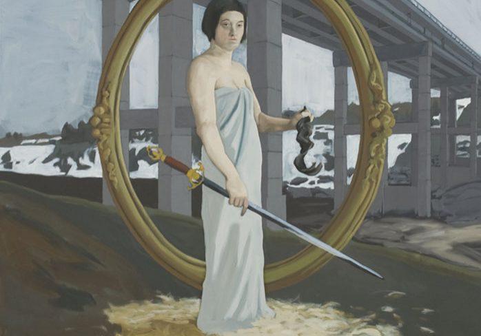 """Léda sous le pont Carcajou, 100 x 100 cm (39"""" x 39""""), 2009"""